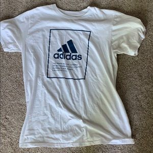 White and blue Adidas t shirt